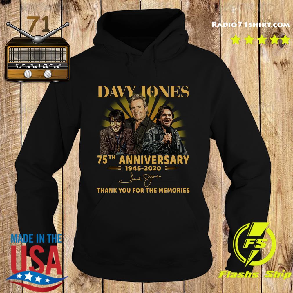Davy Jones 75th Anniversary 1945 2020 Thank You For The Memories Signature Shirt Hoodie