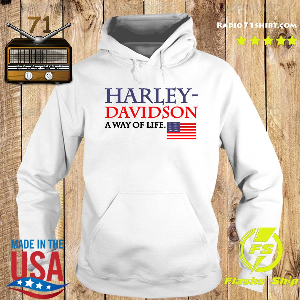 Harley Davidson A Way Of Life American Flag Shirt Hoodie