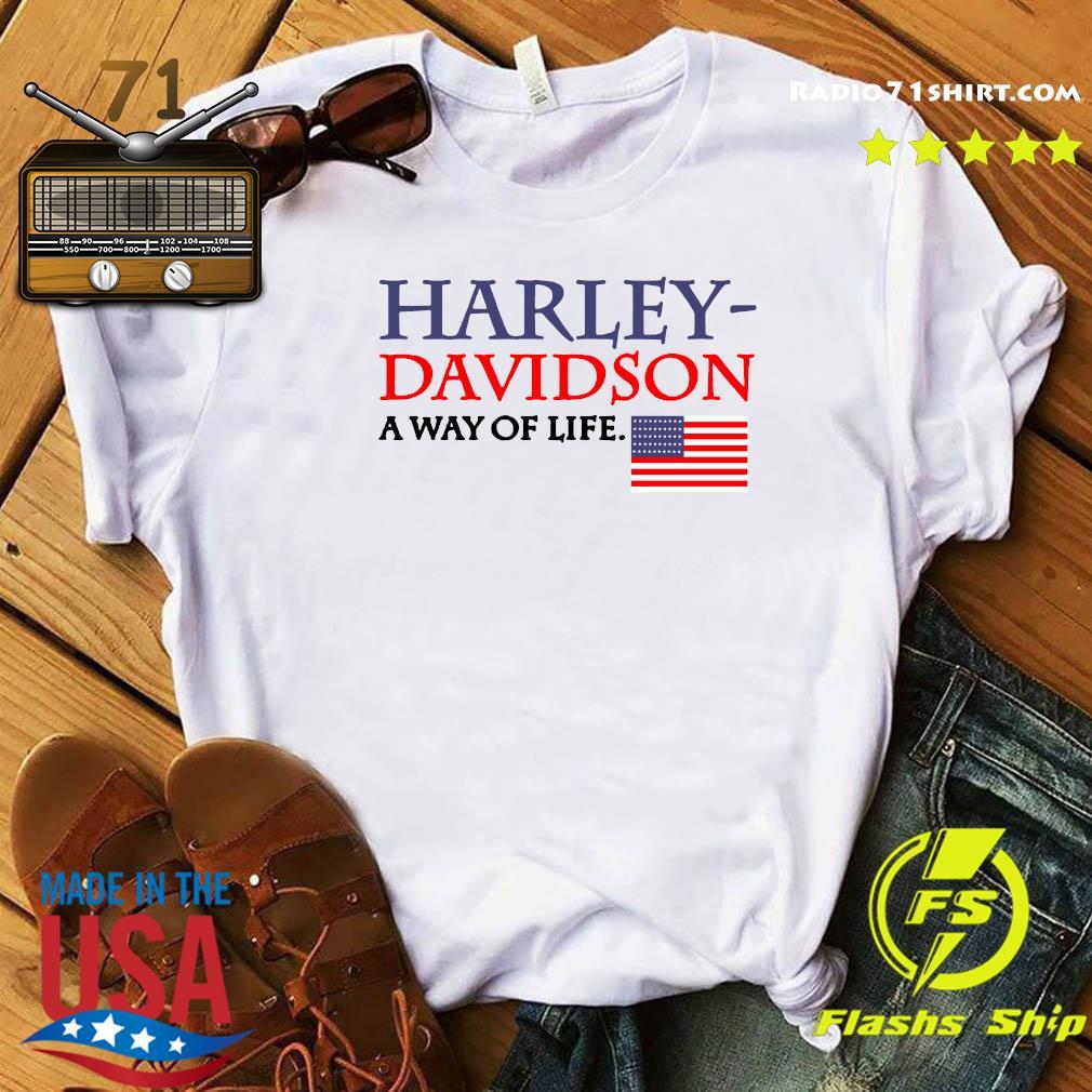 Harley Davidson A Way Of Life American Flag Shirt