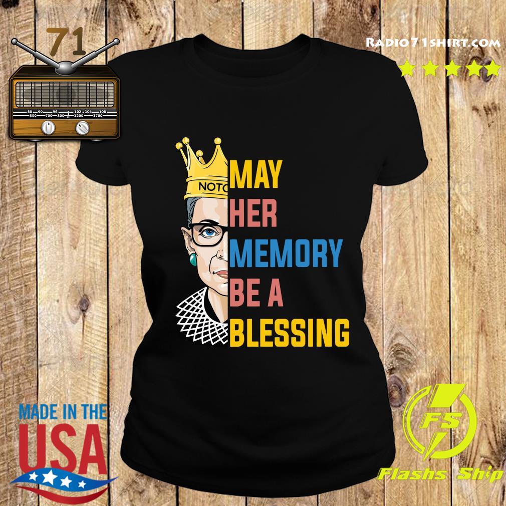 Ruth Bader Ginsburg RBG May Her Memory Be A Blessing Shirt Ladies tee