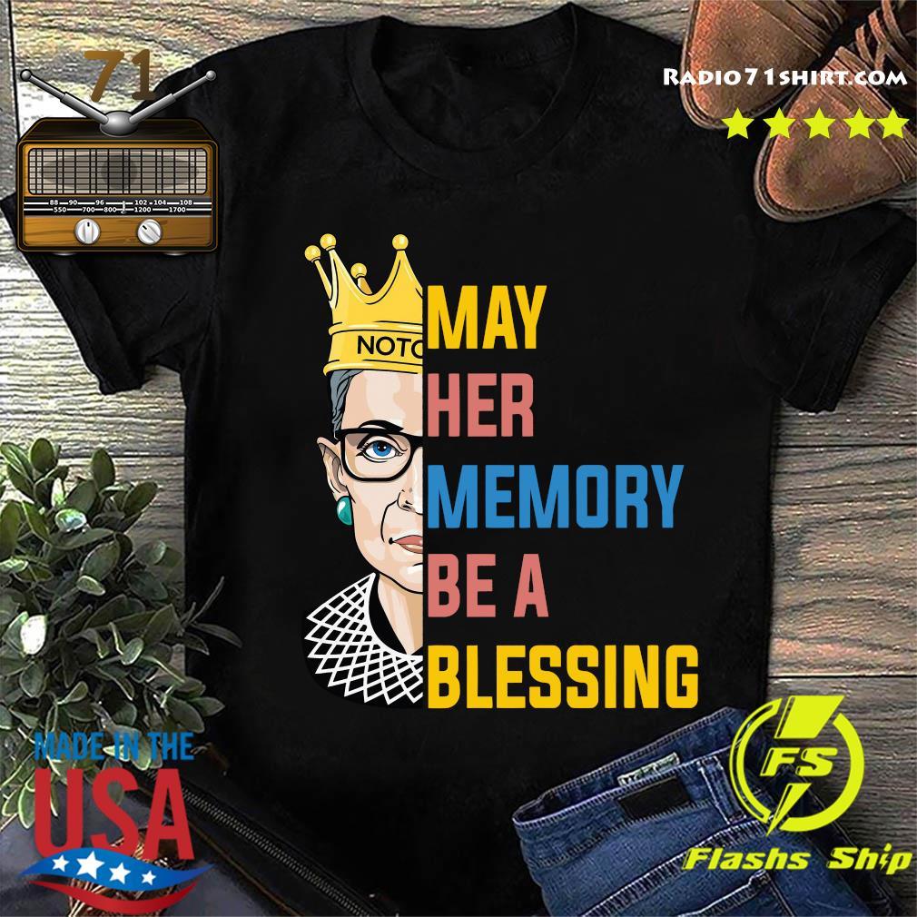 Ruth Bader Ginsburg RBG May Her Memory Be A Blessing Shirt
