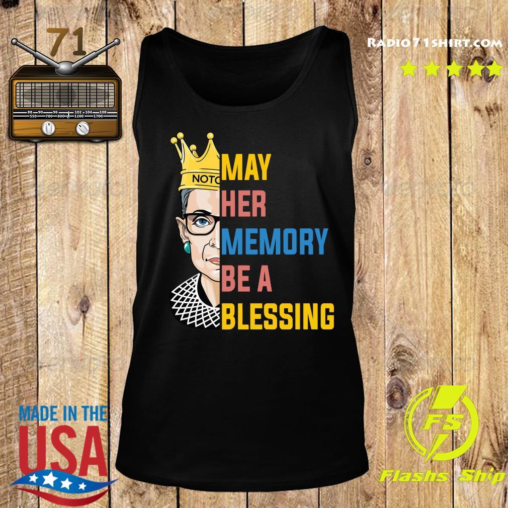 Ruth Bader Ginsburg RBG May Her Memory Be A Blessing Shirt Tank top