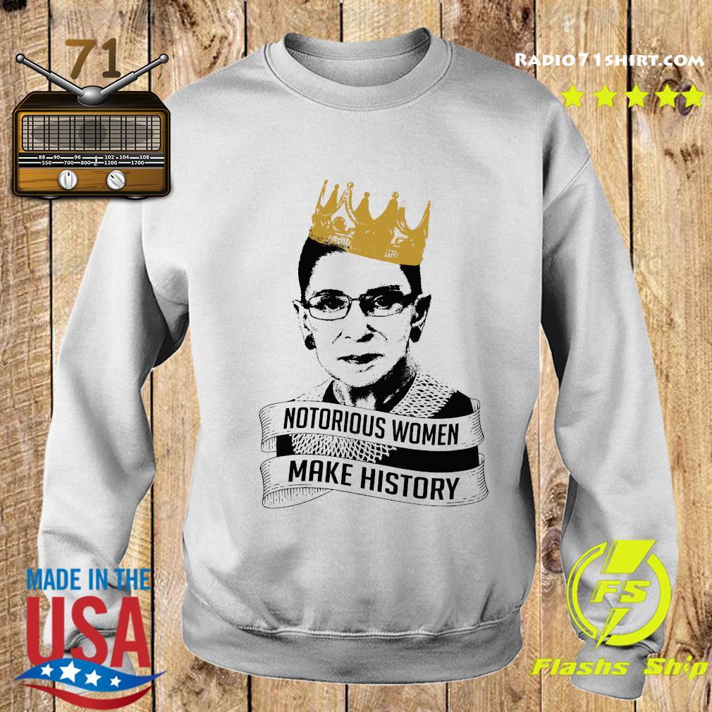 Ruth Bader Ginsburg Rbg Notorious Women Make History Shirt Sweater