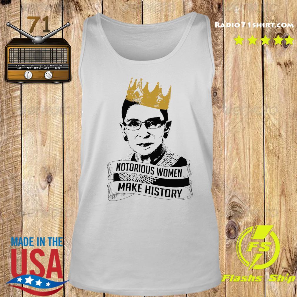 Ruth Bader Ginsburg Rbg Notorious Women Make History Shirt Tank top