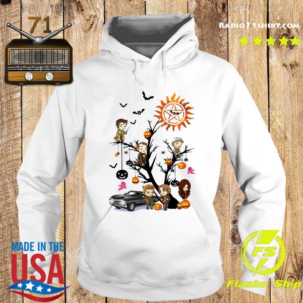 Supernatural Tree Halloween Pumpkin Shirt Hoodie
