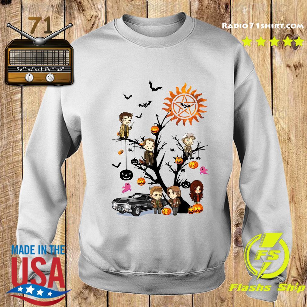 Supernatural Tree Halloween Pumpkin Shirt Sweater