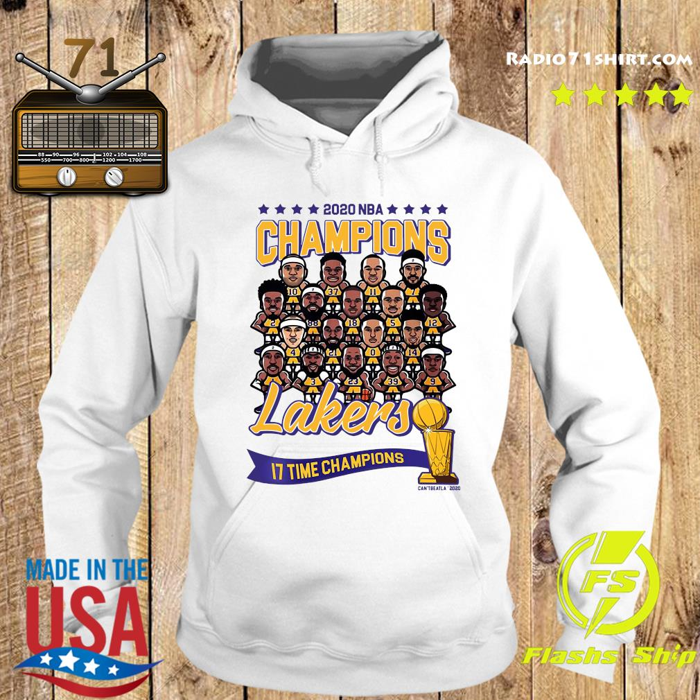 2020 NBA Champions Los Angeles Lakers 17 Time Champions Shirt Hoodie