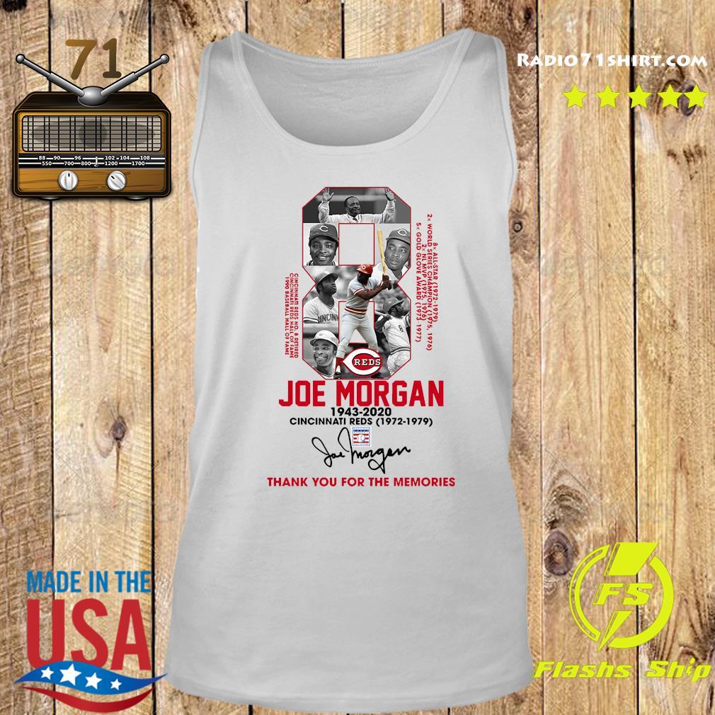 8 Joe Morgan Cincinnati Reds 1972 1979 Thank You For The Memories Signature Shirt Tank top