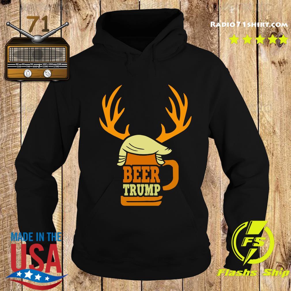 Beer Trump Reindeer Christmas Shirt Hoodie