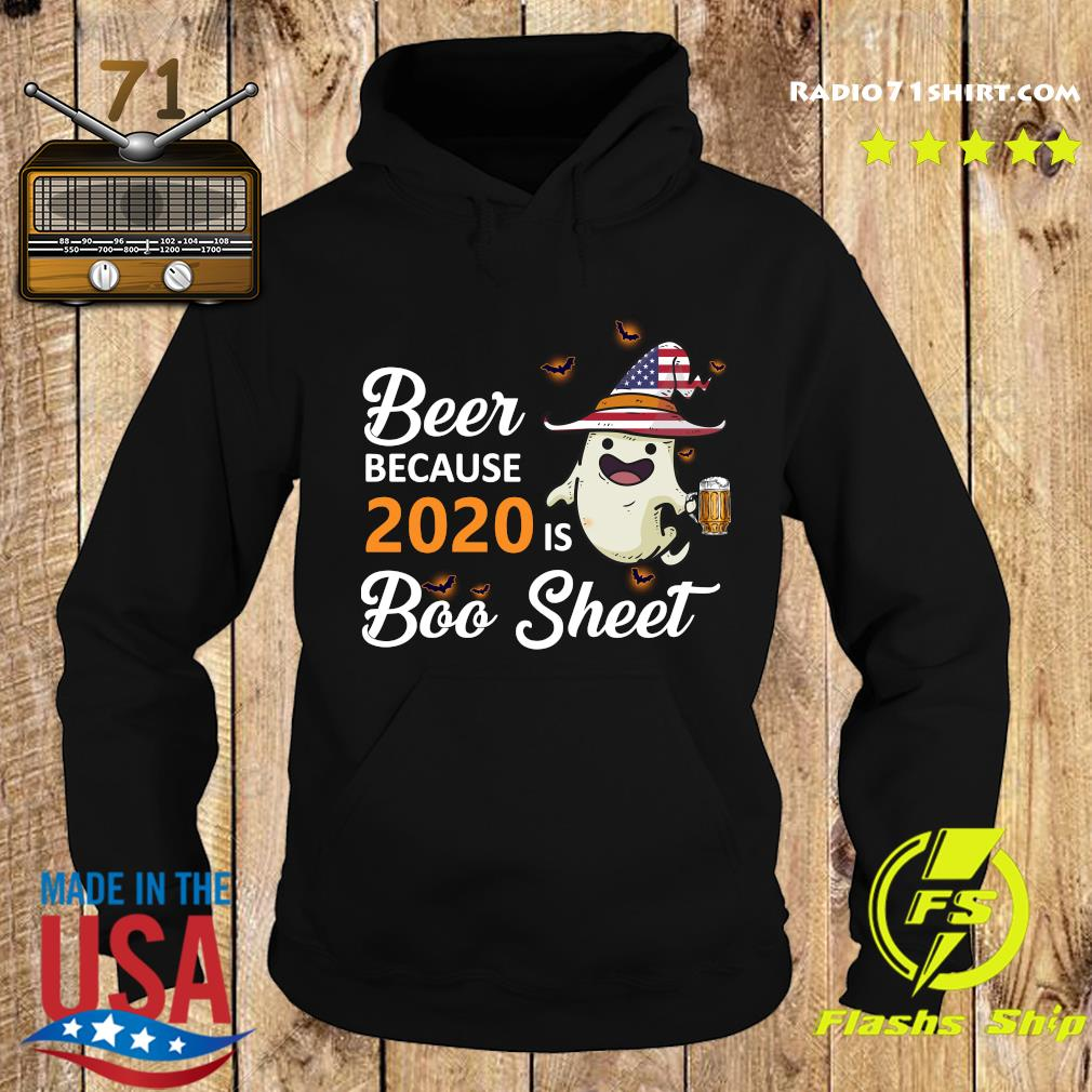 Ghost Witch American Flag Beer Because 2020 Is Boo Sheet Shirt Hoodie