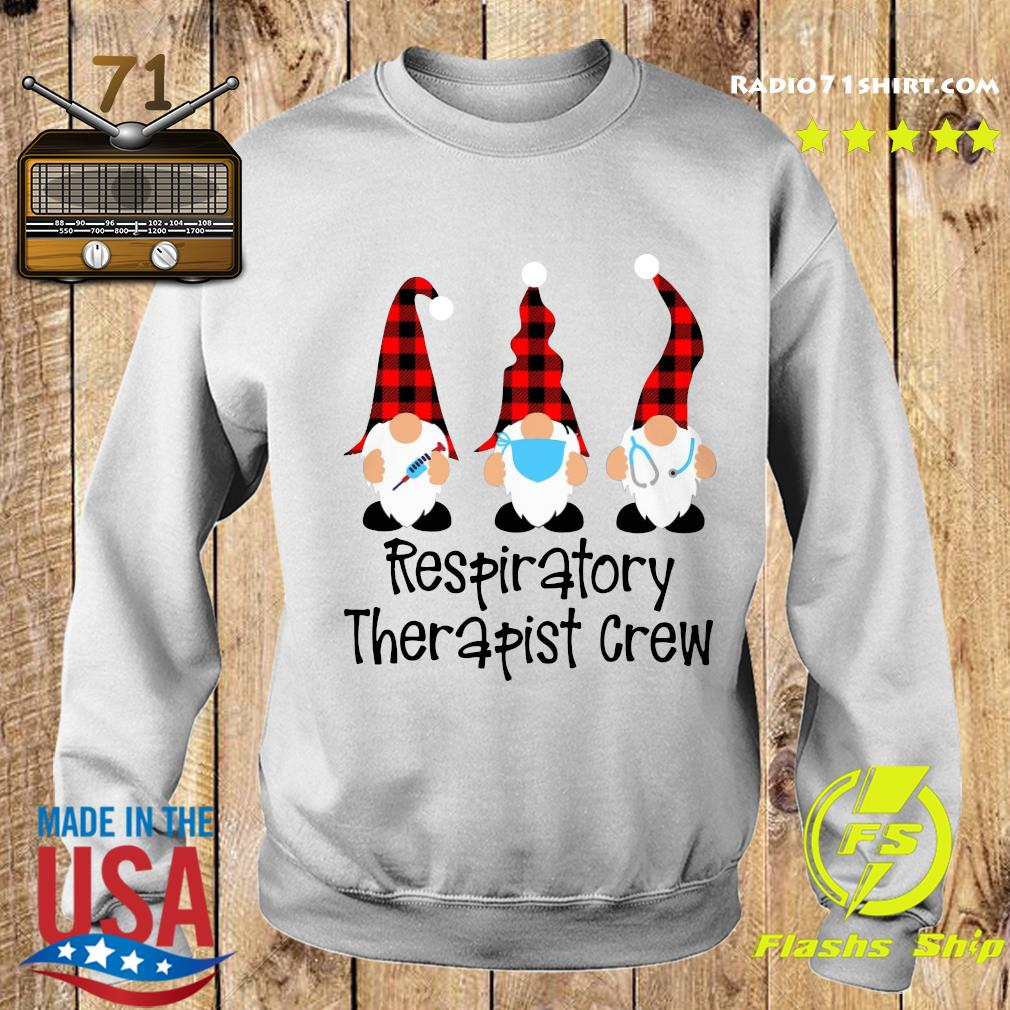 Gnome Nurse Respiratory Therapist Crew Merry Christmas Sweatshirt
