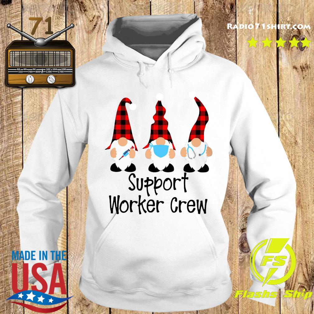Gnome Nurse Support Worker Crew Merry Christmas Sweats Hoodie