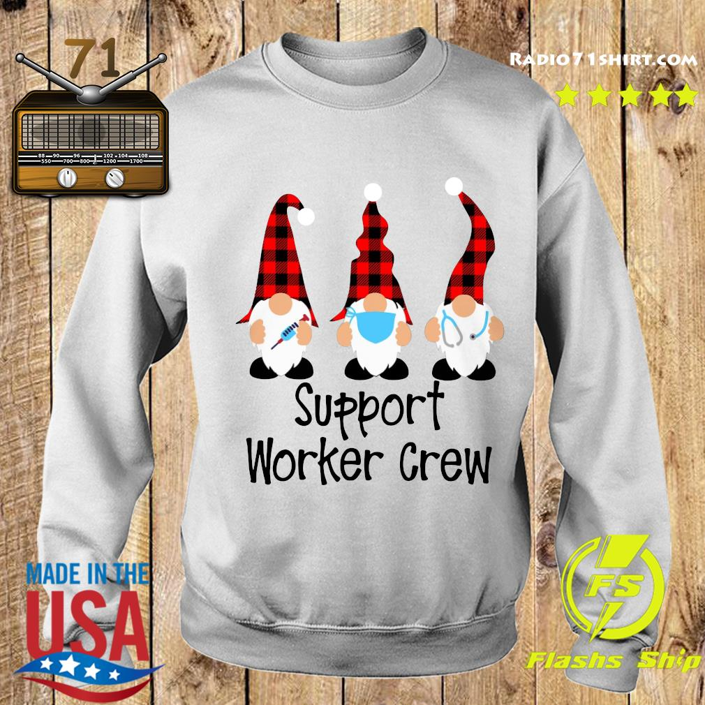 Gnome Nurse Support Worker Crew Merry Christmas Sweatshirt