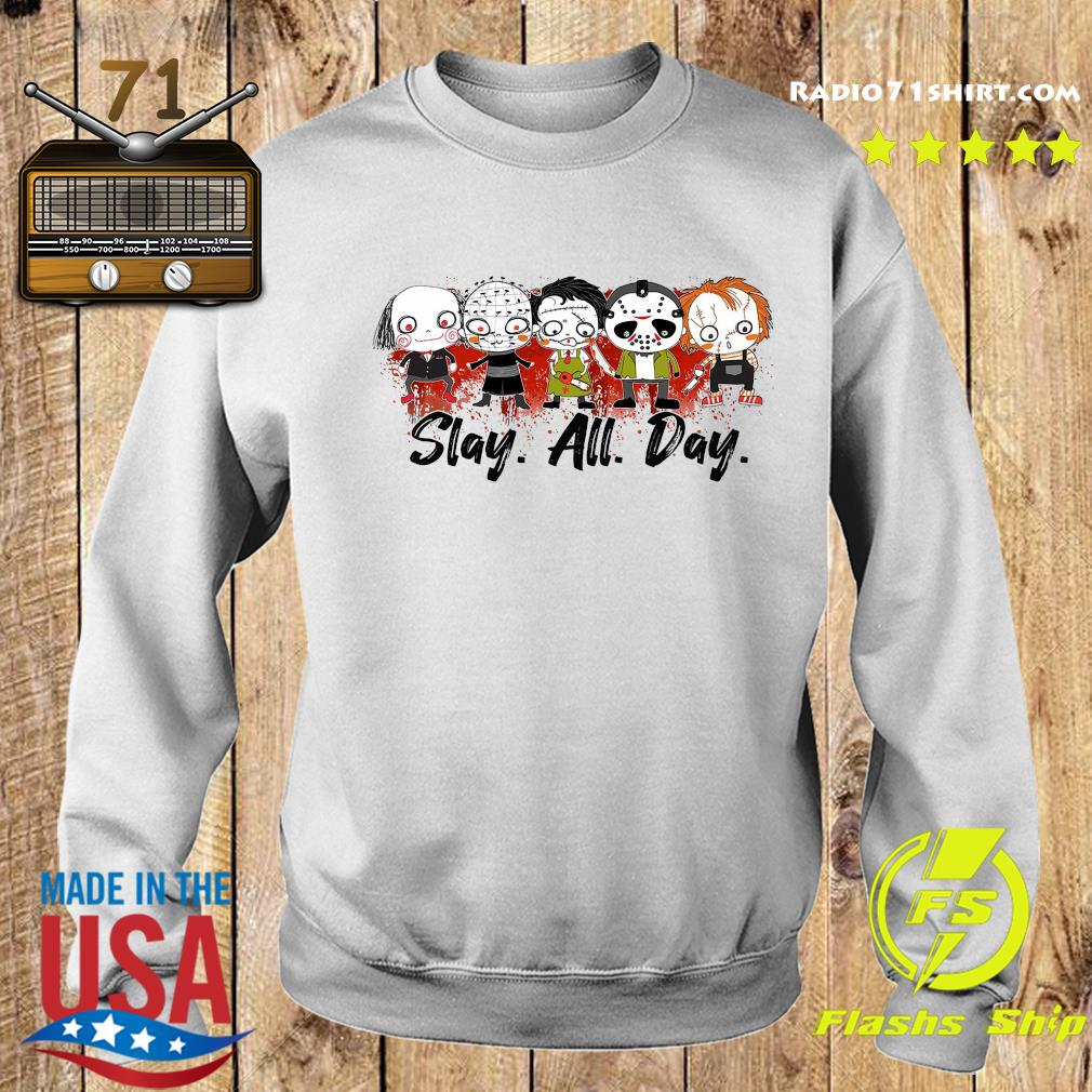 Horror Characters Slay All Day Halloween Shirt Sweater