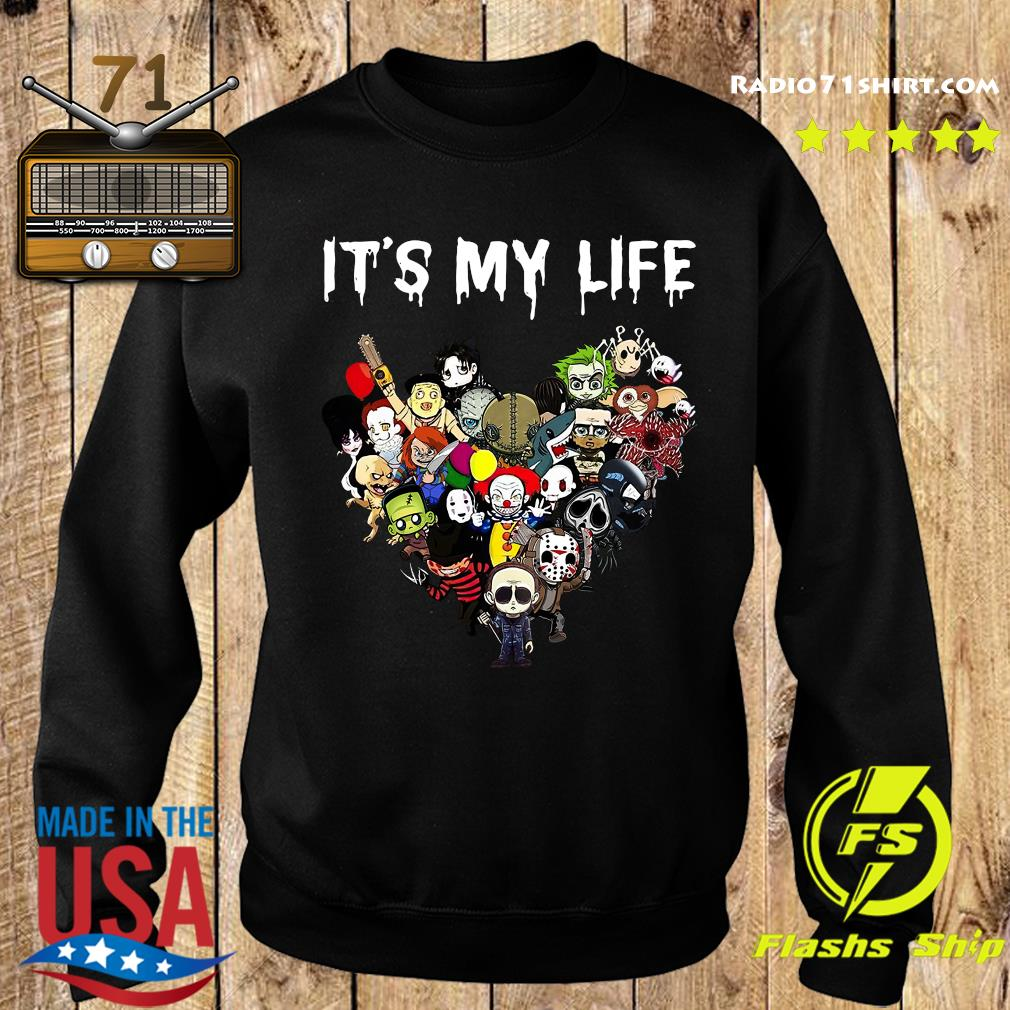 Horror Movies Characters Heart It's My Life Halloween Shirt Sweater