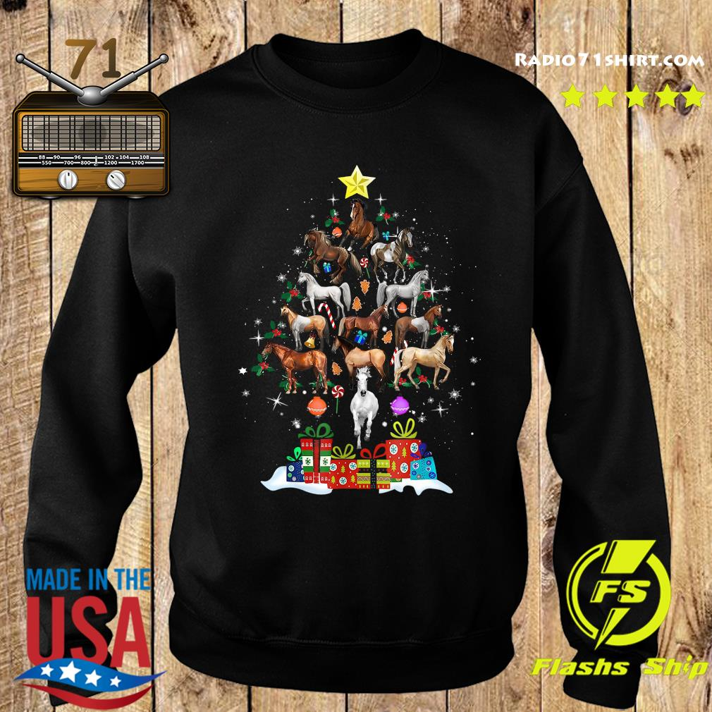 Horses Tree Merry Christmas Sweatshirt