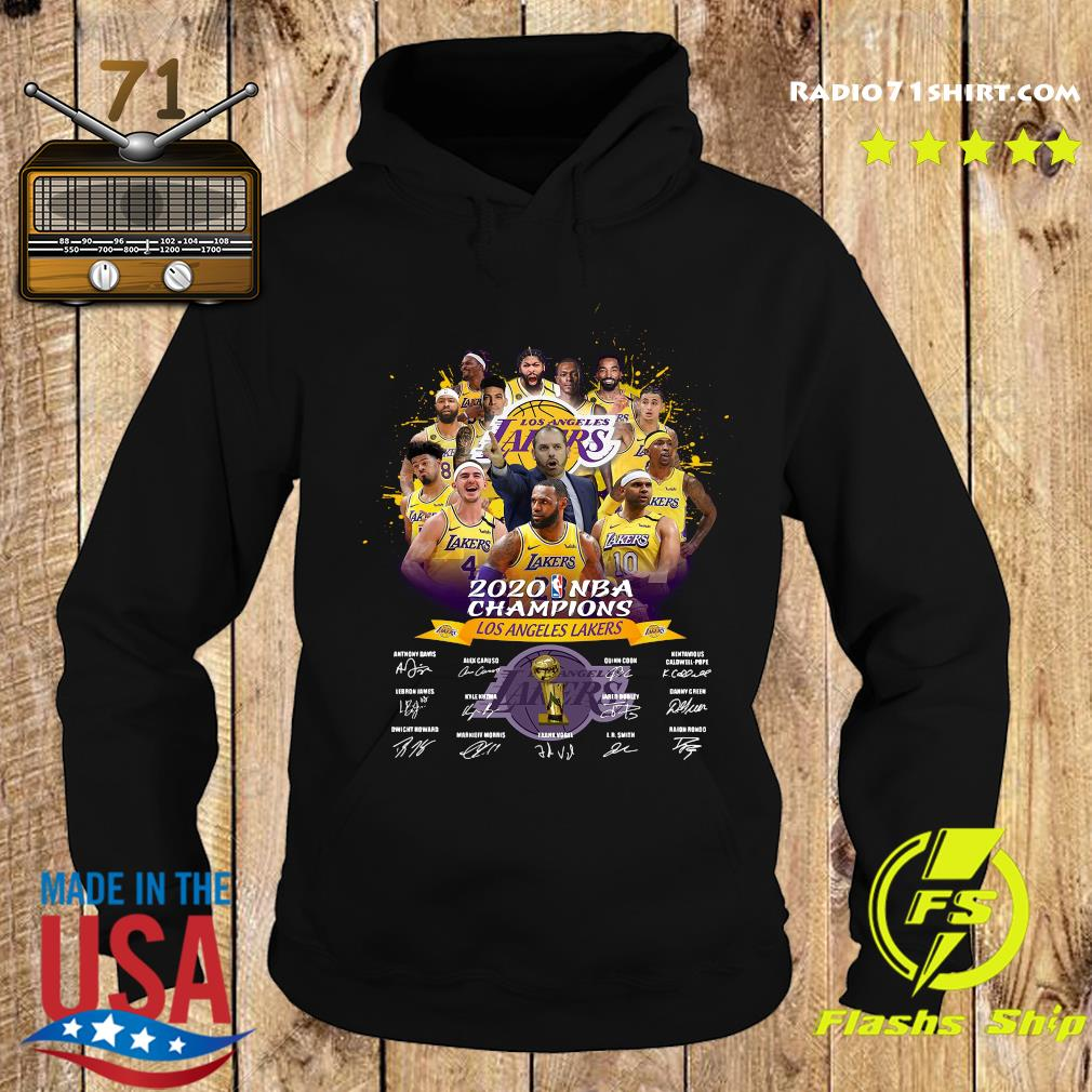 Los Angeles Lakers 2020 NBA Champions signatures s Hoodie