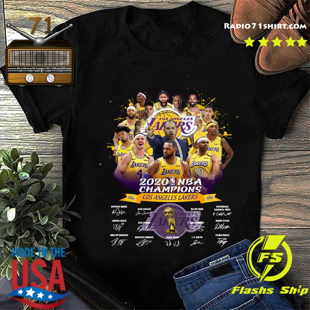 Los Angeles Lakers 2020 NBA Champions signatures shirt