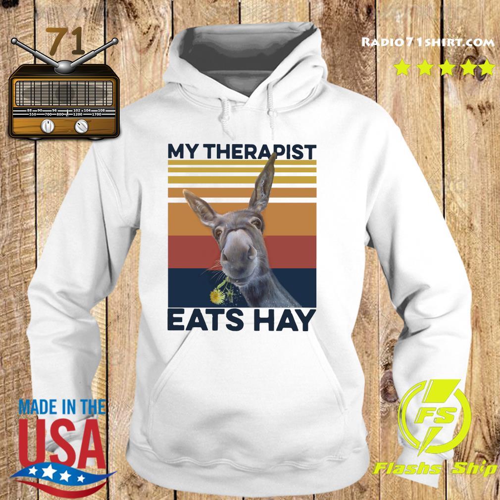 My Therapist Eats Hay Horse Vintage T-Shirt Hoodie