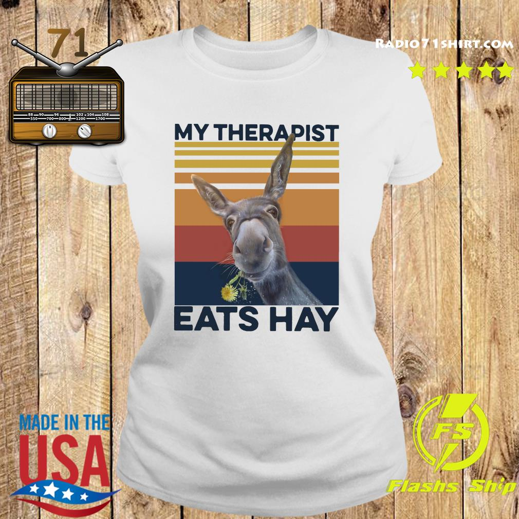 My Therapist Eats Hay Horse Vintage T-Shirt Ladies tee
