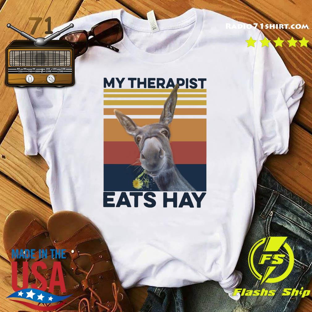 My Therapist Eats Hay Horse Vintage T-Shirt