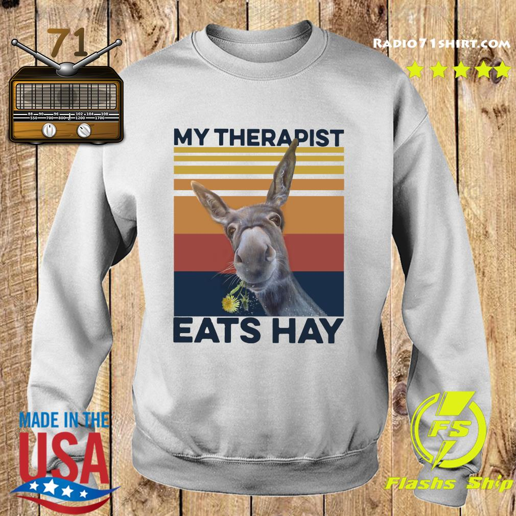 My Therapist Eats Hay Horse Vintage T-Shirt Sweater