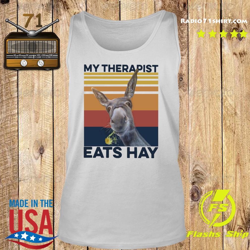 My Therapist Eats Hay Horse Vintage T-Shirt Tank top