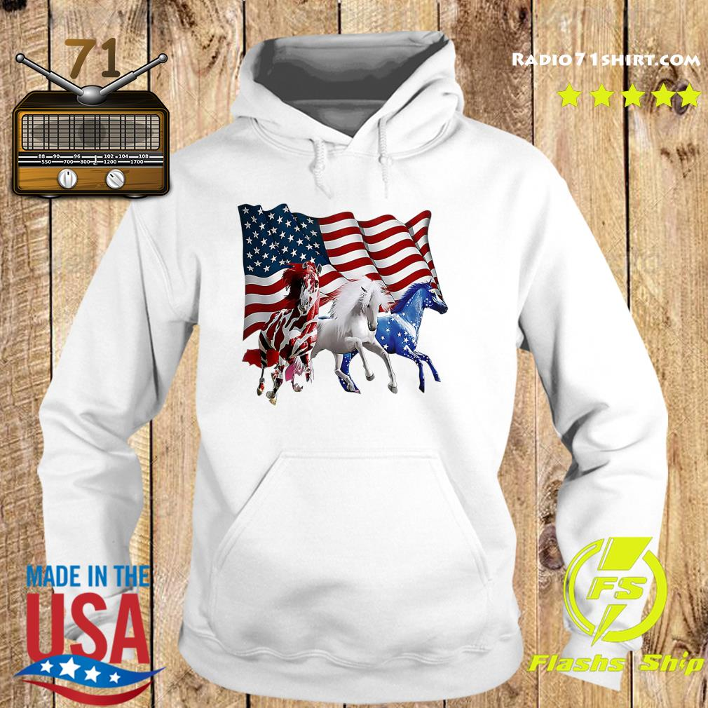 Official Tree Horse American Flag Shirt Hoodie