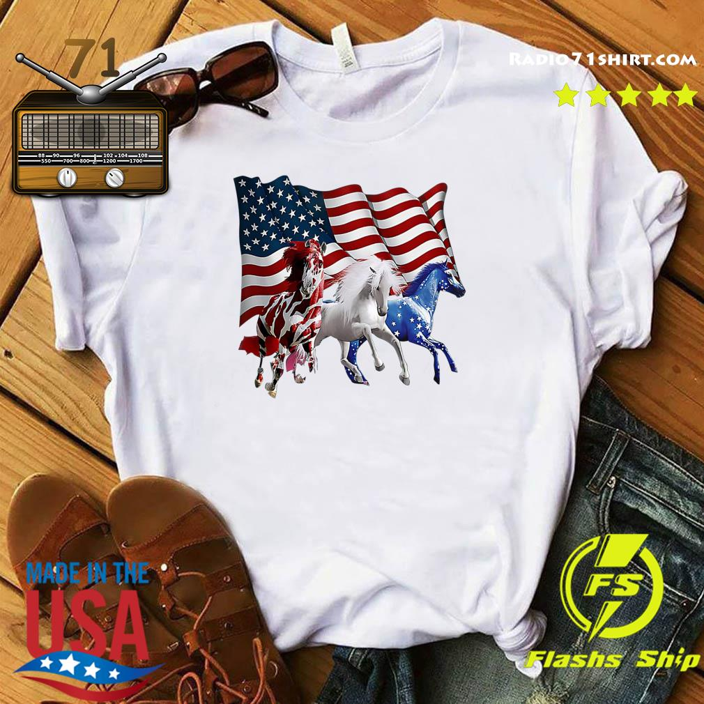 Official Tree Horse American Flag Shirt