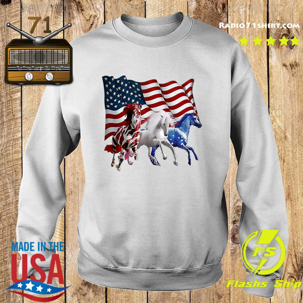 Official Tree Horse American Flag Shirt Sweater