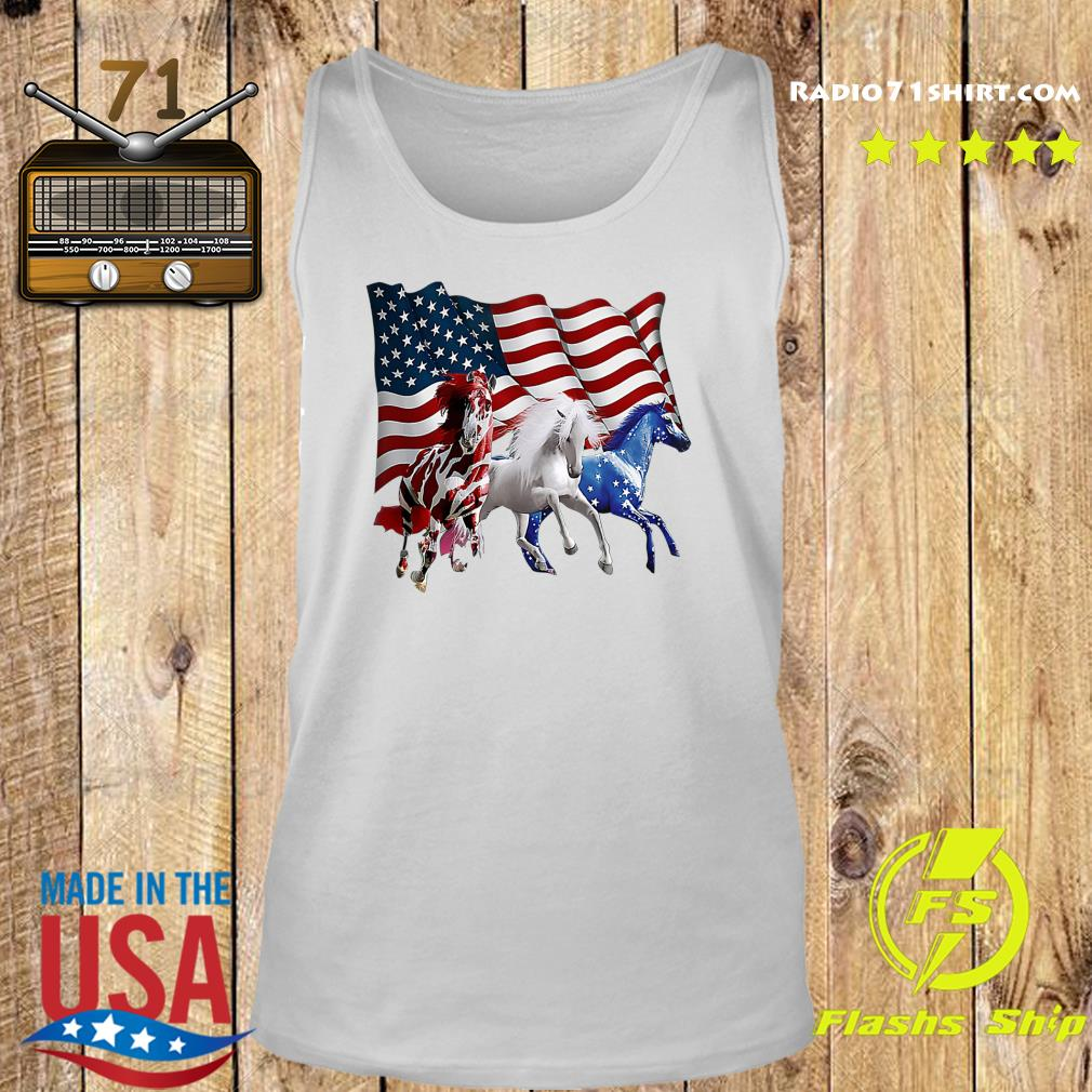 Official Tree Horse American Flag Shirt Tank top