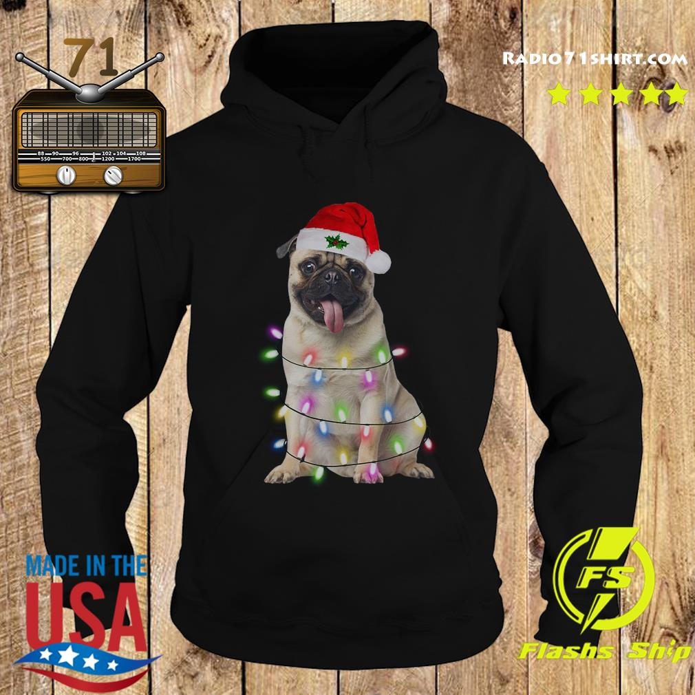 Santa Pug Dog Merry Christmas Sweats Hoodie