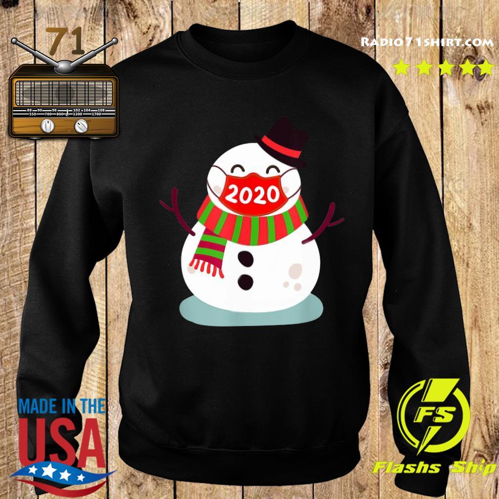 Snowman Face Mask 2020 Christmas Sweatshirt
