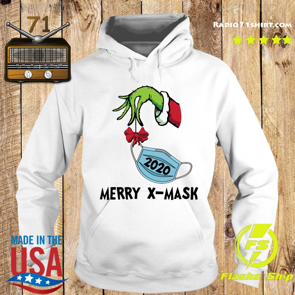 The Grinch Hand holding 2020 Merry X-mask Sweats Hoodie