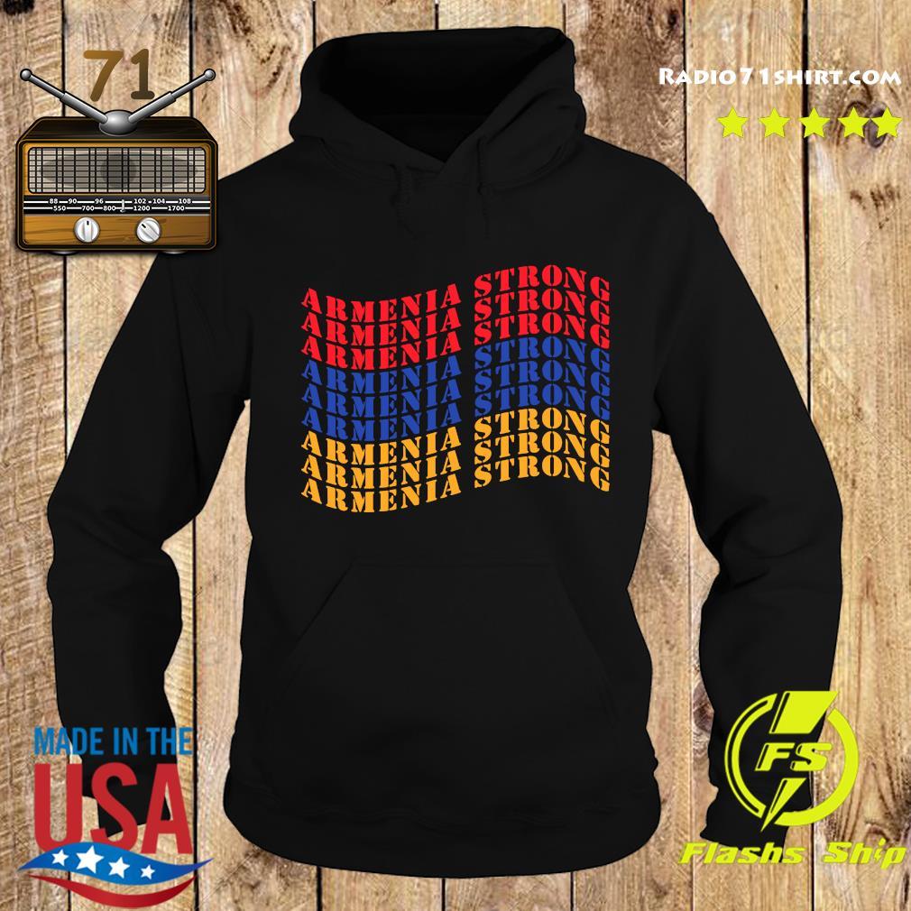 Waving Armenia Strong Flag Colors Shirt Hoodie