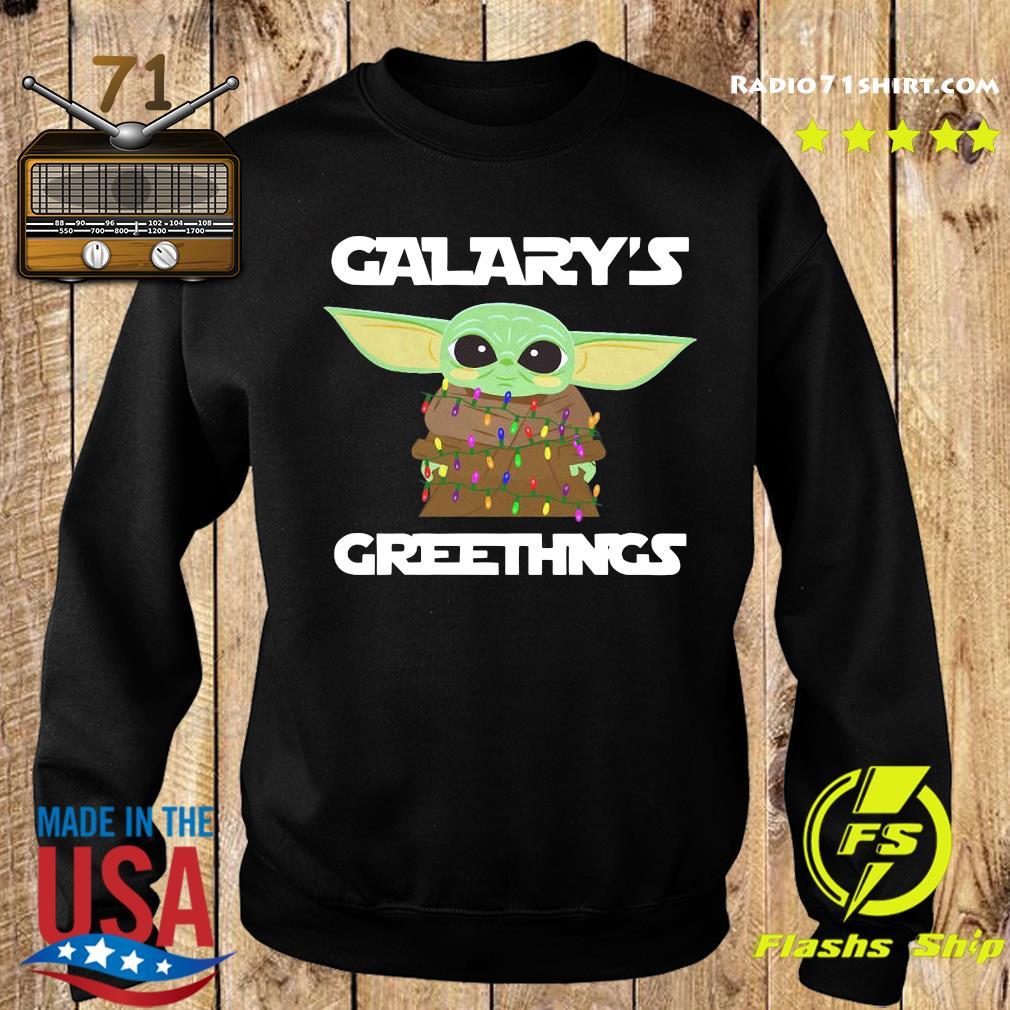 Baby Yoda Galaxy's Greetings Christmas Light Sweatshirt