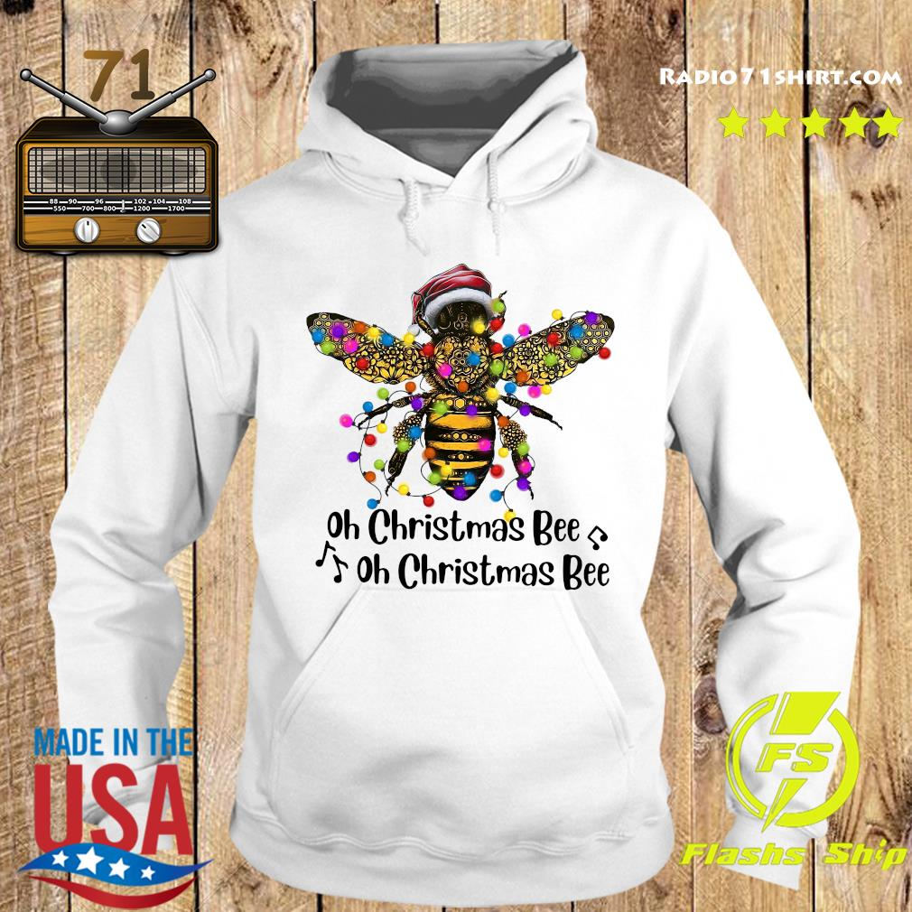 Bee Santa Oh Christmas Bee Oh Christmas Bee Light Sweats Hoodie