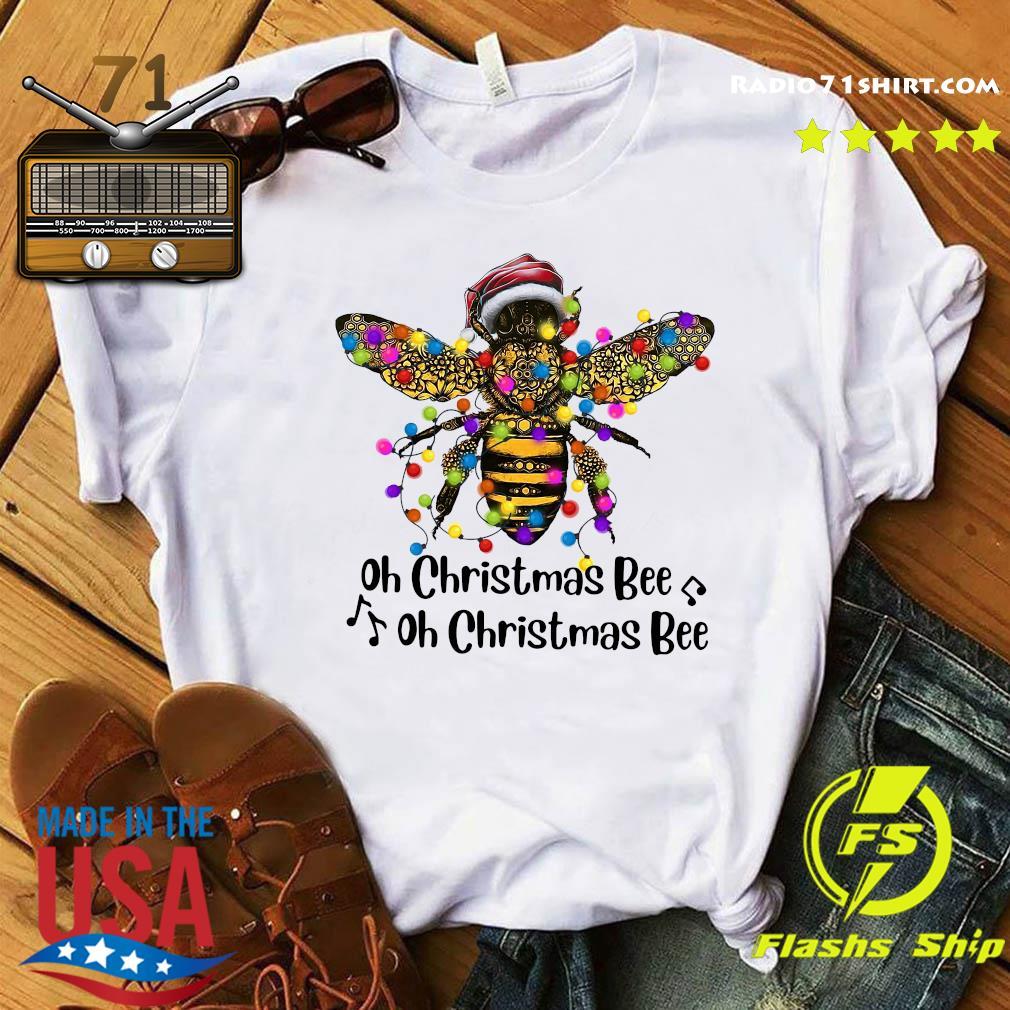 Bee Santa Oh Christmas Bee Oh Christmas Bee Light Sweats Shirt
