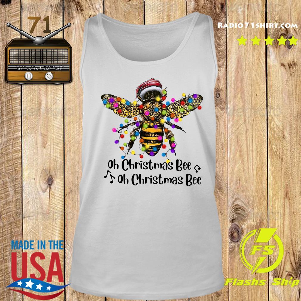 Bee Santa Oh Christmas Bee Oh Christmas Bee Light Sweats Tank top
