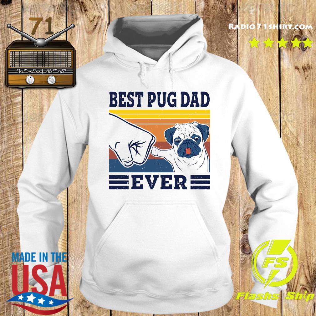Best Pug Dad Ever Vintage Retro Shirt Hoodie