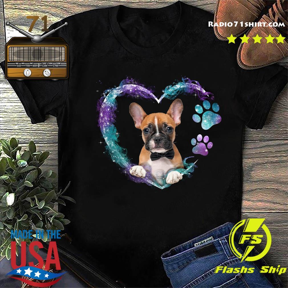 Boxer Paw Dog Heart Shirt