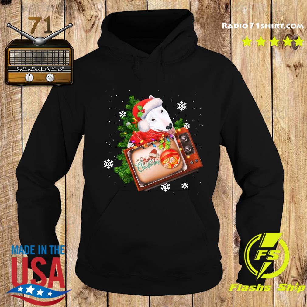 Bull Terrier Merry Christmas Tree Sweats Hoodie
