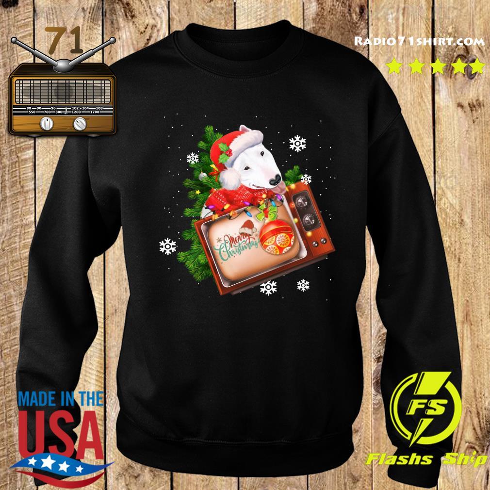 Bull Terrier Merry Christmas Tree Sweatshirt