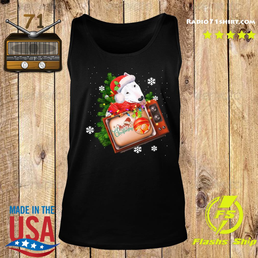 Bull Terrier Merry Christmas Tree Sweats Tank top