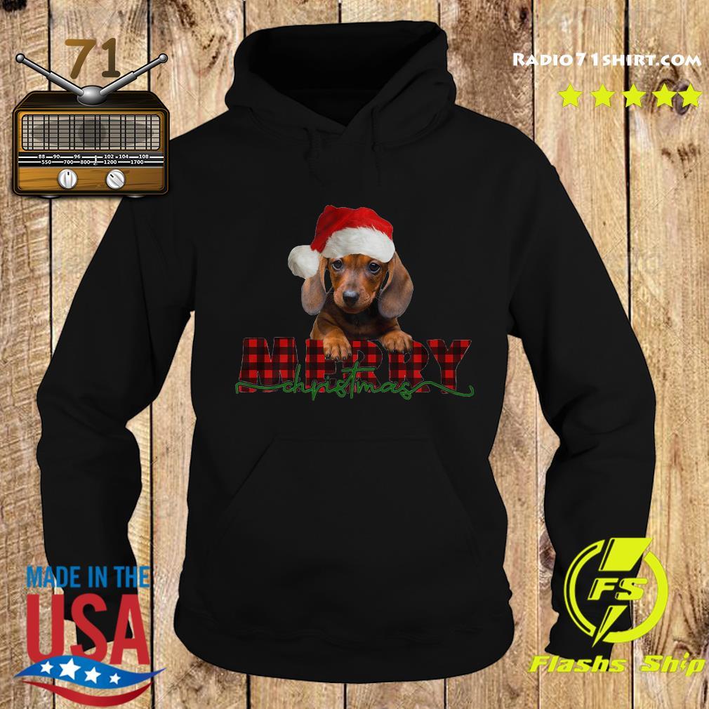 Dachshund Santa Merry Christmas Sweats Hoodie