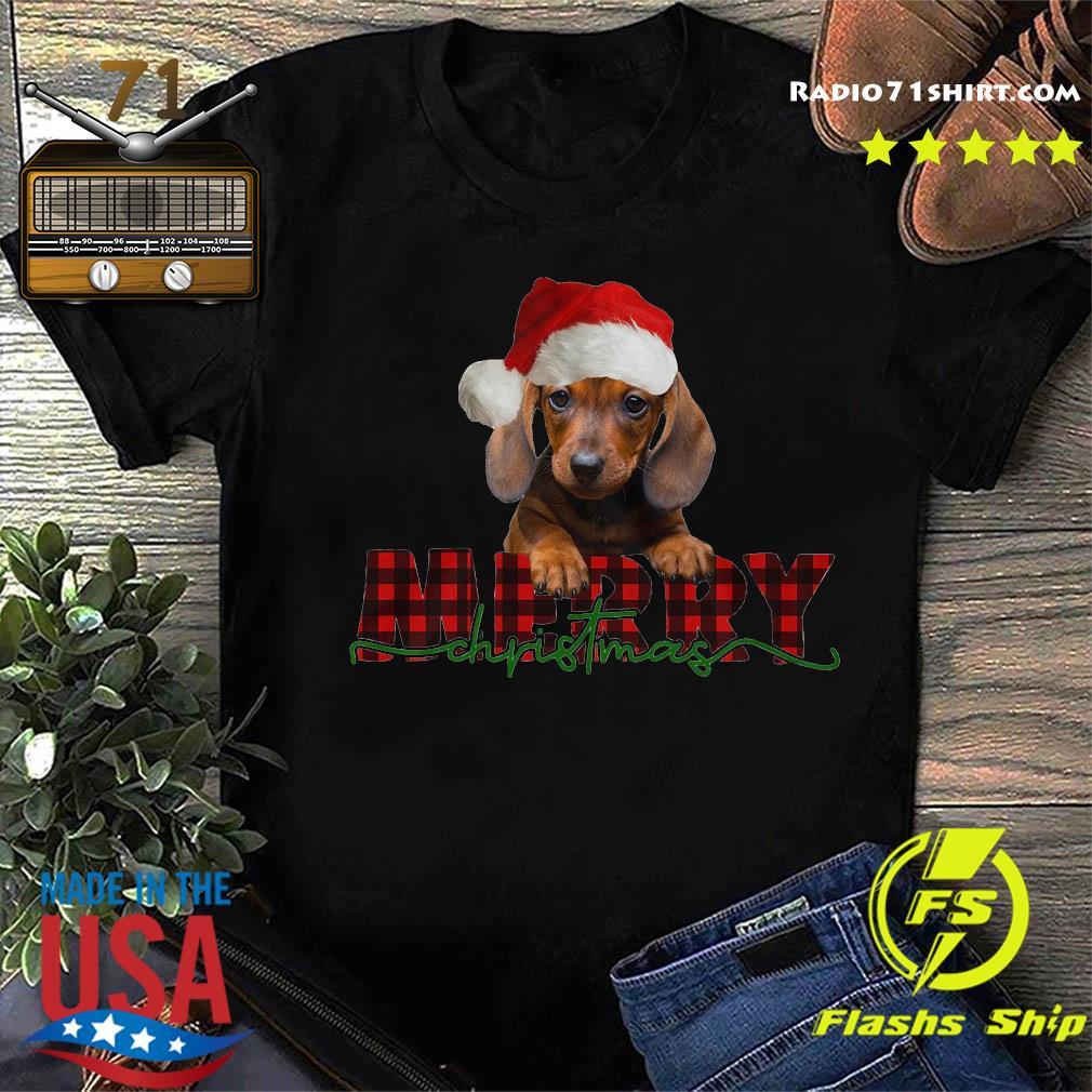 Dachshund Santa Merry Christmas Sweats Shirt