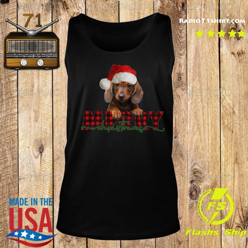 Dachshund Santa Merry Christmas Sweats Tank top