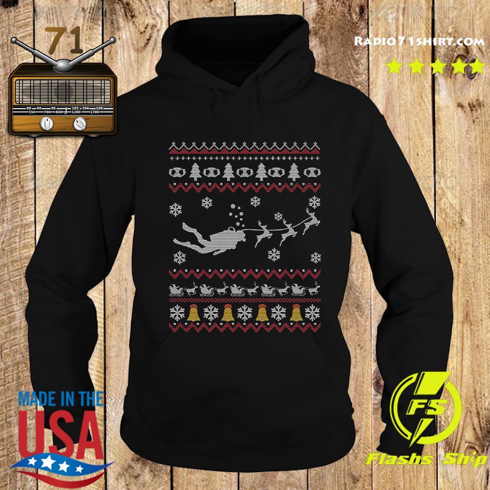 Dive Reindeer Ugly Merry Christmas Sweats Hoodie