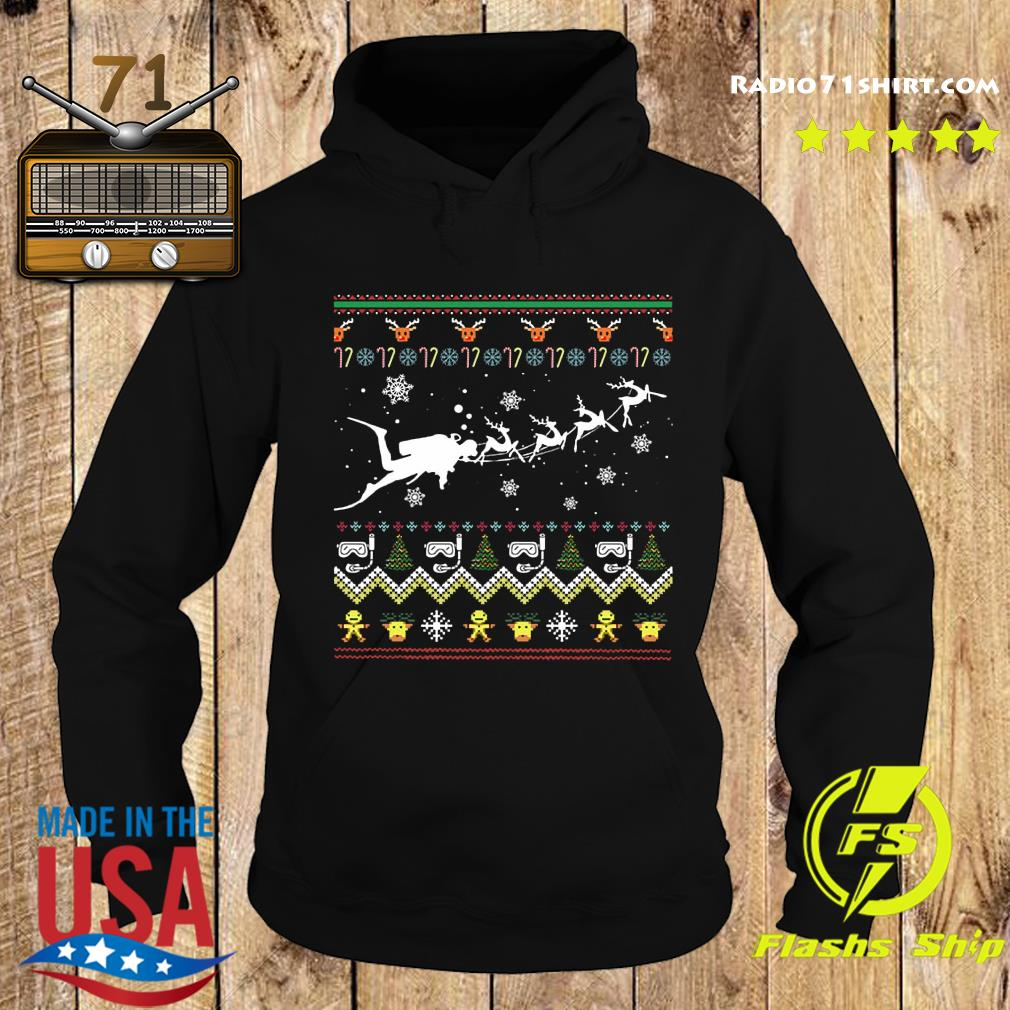 Dive With Reindeer Ugly Merry Christmas Sweats Hoodie