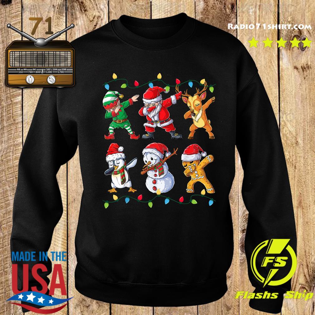 Elf Santa Claus Reindeer Penguins Snowman Gingerbread Dabbing Christmas Sweatshirt